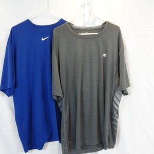 Lot of 2-Quicksilver/Nike Athletic Shirts 2XX
